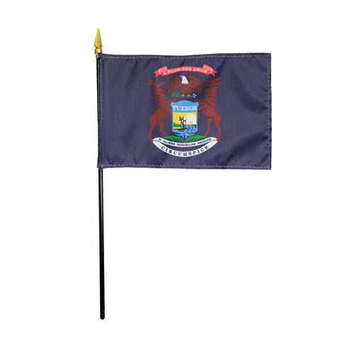 Miniature Flag - Michigan - ColorFastFlags | All the flags you'll ever need!