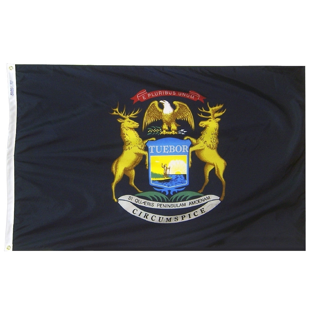 "Michigan Courtesy Flag 12"" x 18"" - ColorFastFlags 
