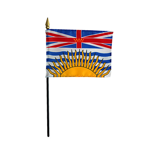 Miniature British Columbia Flag - ColorFastFlags | All the flags you'll ever need!