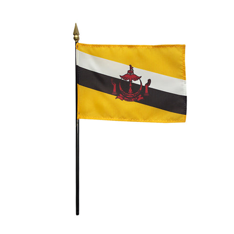 Miniature Brunei Flag - ColorFastFlags | All the flags you'll ever need!