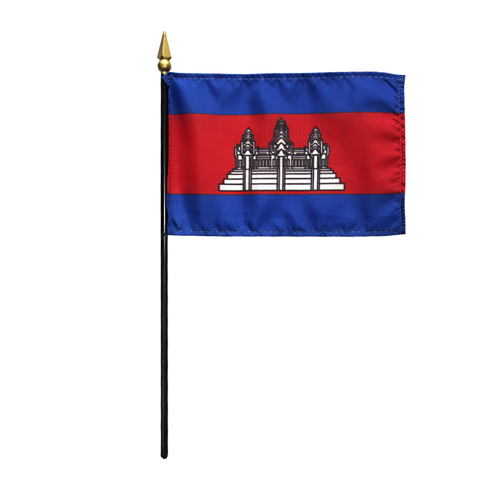 Miniature Cambodia Flag - ColorFastFlags | All the flags you'll ever need!