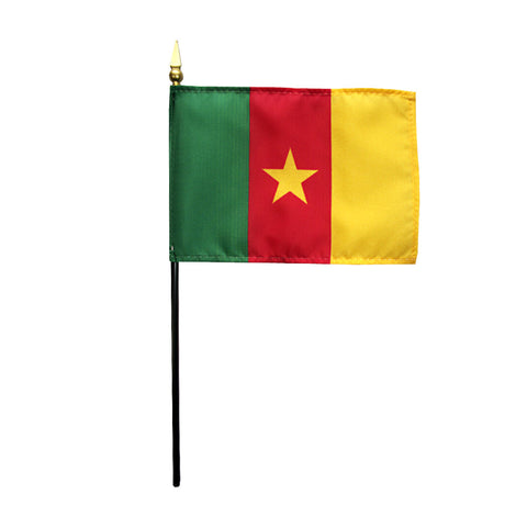 Miniature Cameroon Flag - ColorFastFlags | All the flags you'll ever need!