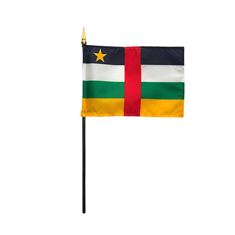 Miniature Central African Republic Flag - ColorFastFlags | All the flags you'll ever need!