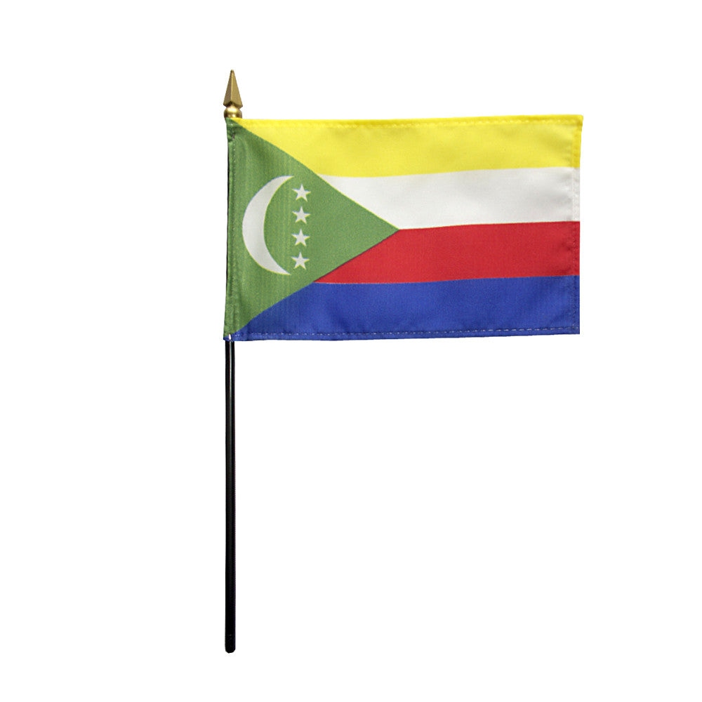Miniature Comoros Flag - ColorFastFlags | All the flags you'll ever need!