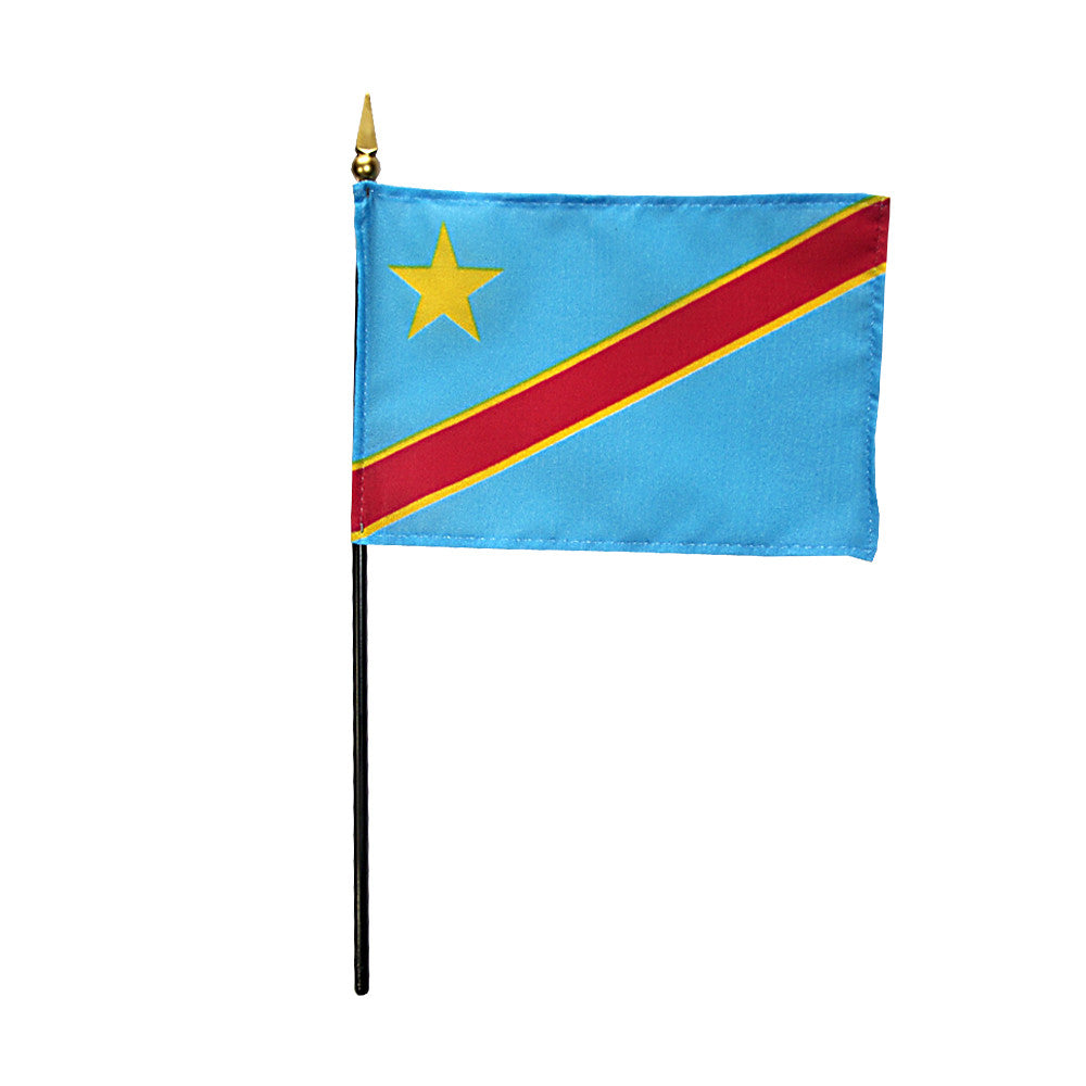 Miniature Democratic Republic of the Congo Flag - ColorFastFlags | All the flags you'll ever need!