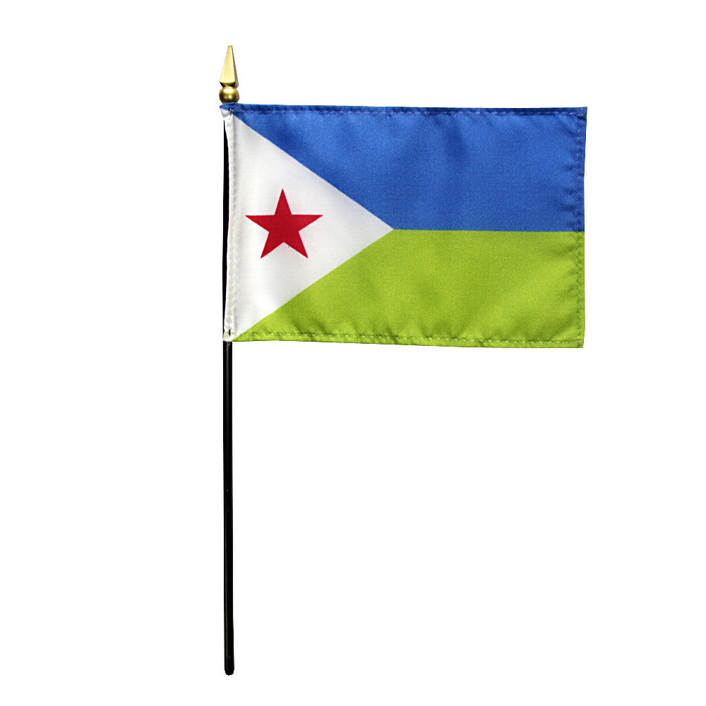 Miniature Djibouti Flag - ColorFastFlags | All the flags you'll ever need!