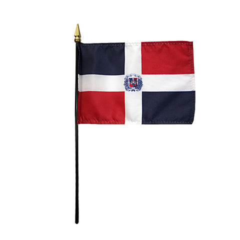 Miniature Dominican Republic Flag - ColorFastFlags | All the flags you'll ever need!