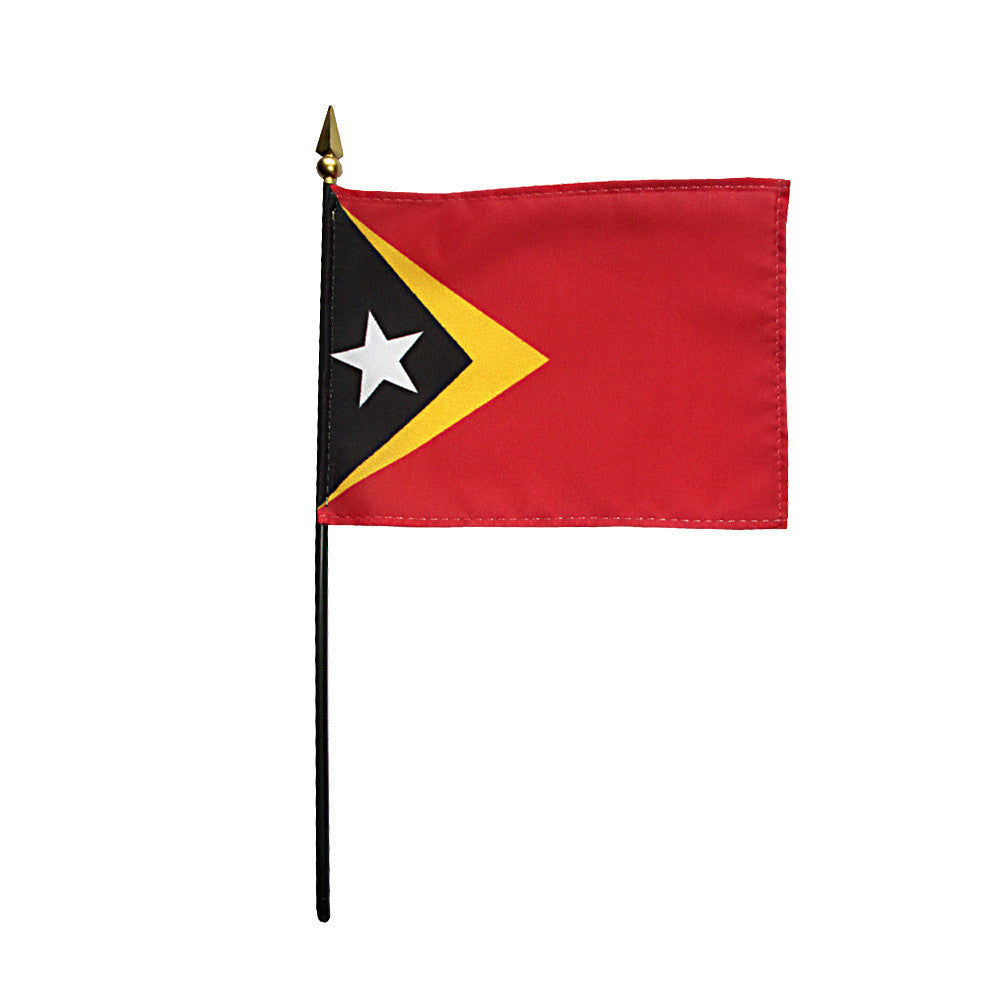 Miniature East Timor Flag - ColorFastFlags | All the flags you'll ever need!