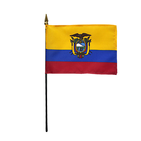 Miniature Ecuador Flag - ColorFastFlags | All the flags you'll ever need!