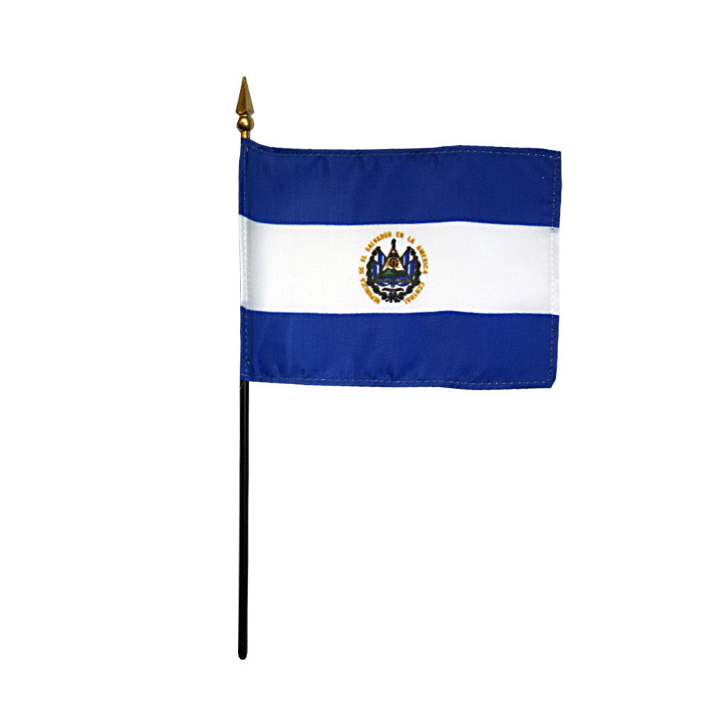 Miniature El Salvador Flag - ColorFastFlags | All the flags you'll ever need!