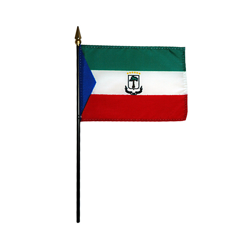 Miniature Equatorial Guinea Flag - ColorFastFlags | All the flags you'll ever need!