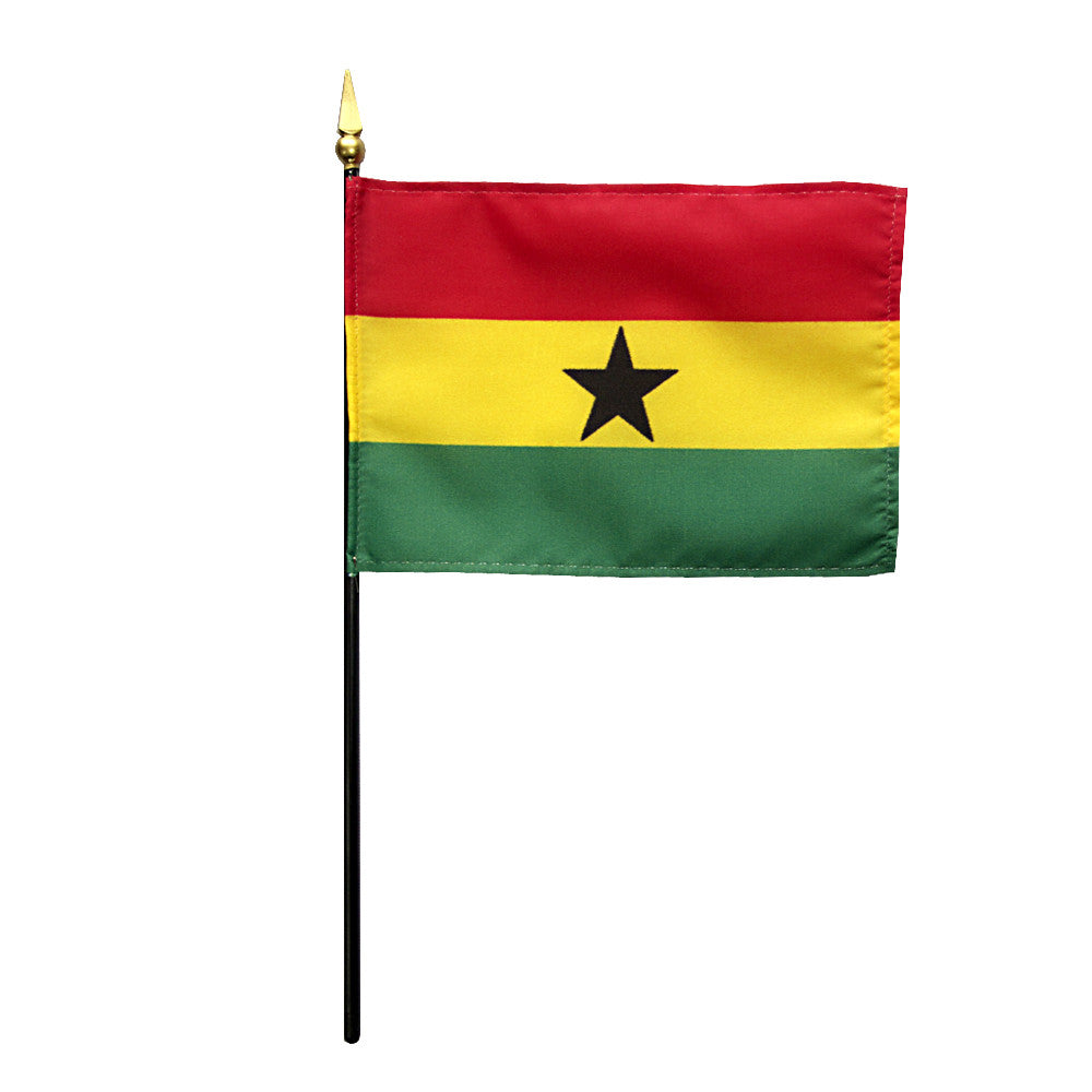 Miniature Ghana Flag - ColorFastFlags | All the flags you'll ever need!