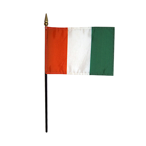 Miniature Cote d'Ivoire (Ivory Coast) Flag - ColorFastFlags | All the flags you'll ever need!