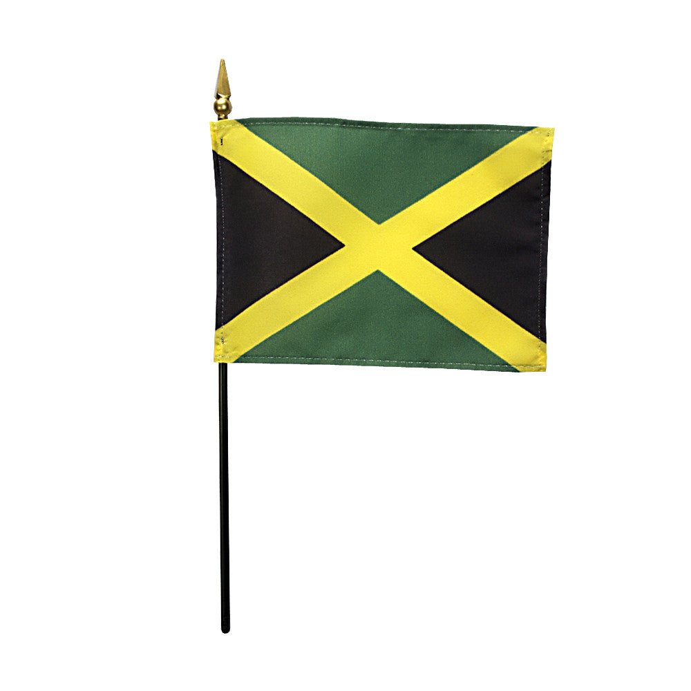 Miniature Jamaica Flag - ColorFastFlags | All the flags you'll ever need!