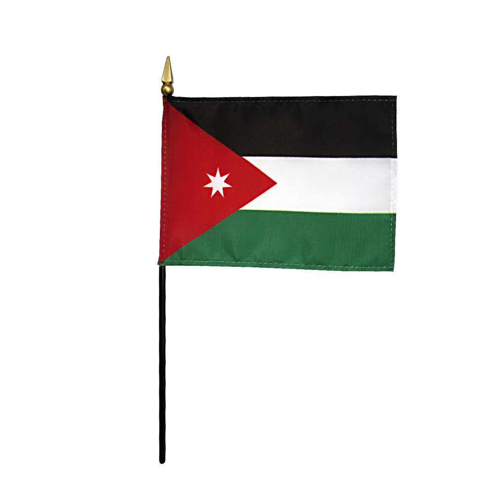 Miniature Jordan Flag - ColorFastFlags | All the flags you'll ever need!