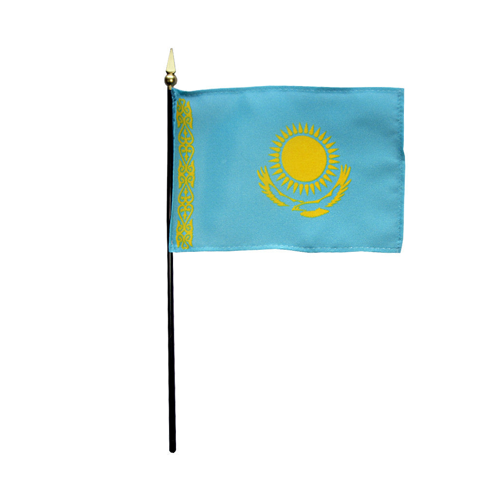 Miniature Kazakhstan Flag - ColorFastFlags | All the flags you'll ever need!