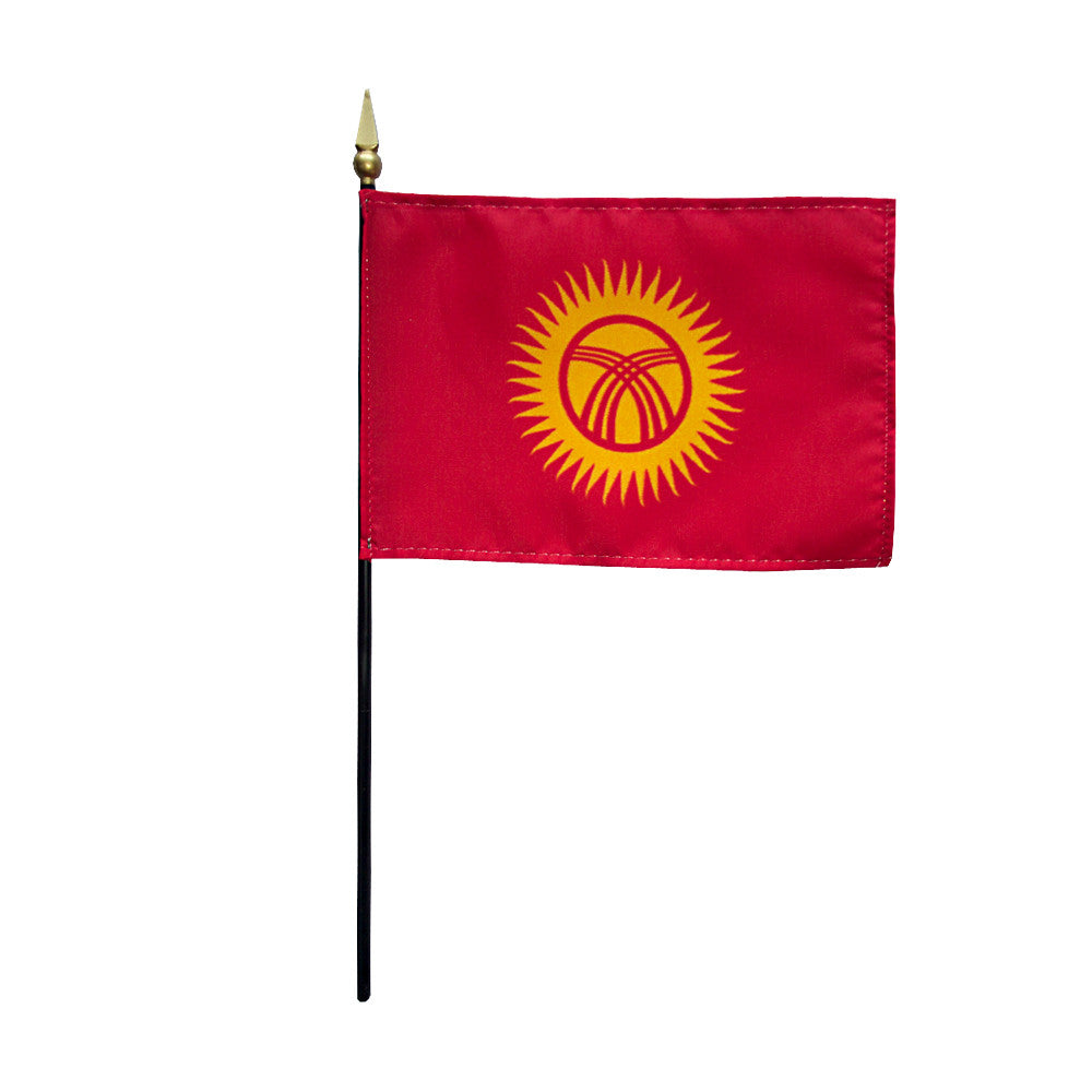 Miniature Kygyzstan Flag - ColorFastFlags | All the flags you'll ever need!