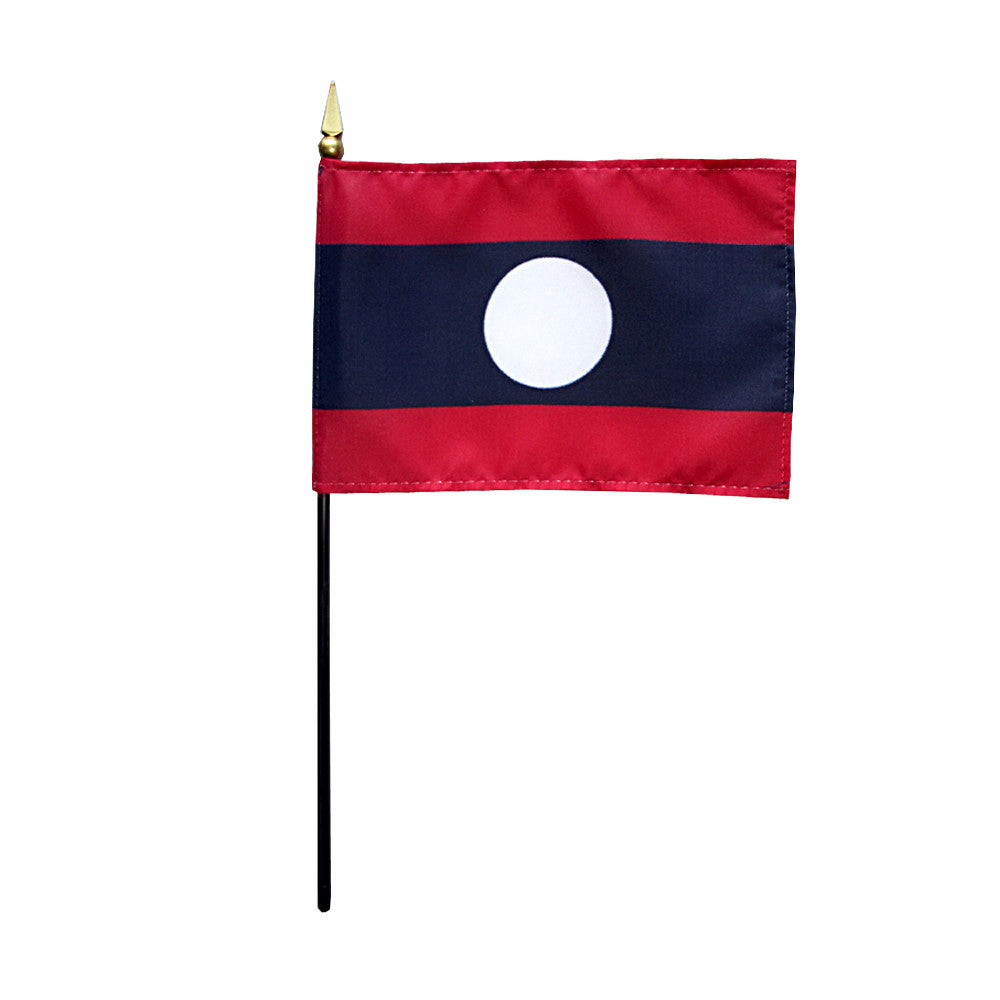 Miniature Laos Flag - ColorFastFlags | All the flags you'll ever need!