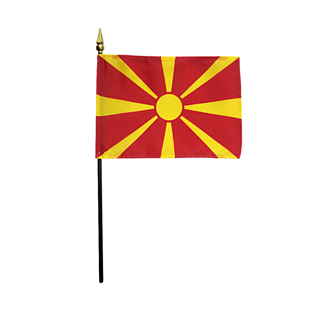 Miniature Macedonia Flag - ColorFastFlags | All the flags you'll ever need!
