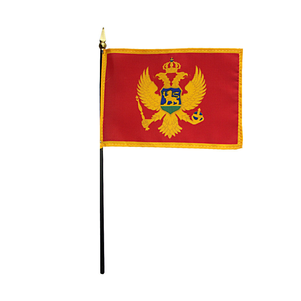 Miniature Montenegro Flag - ColorFastFlags | All the flags you'll ever need!