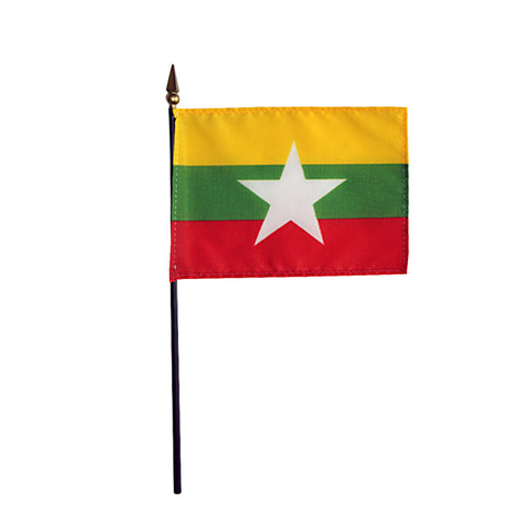 Miniature Myanmar (Burma) Flag - ColorFastFlags | All the flags you'll ever need!