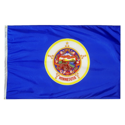 "Minnesota Courtesy Flag 12"" x 18"" - ColorFastFlags 