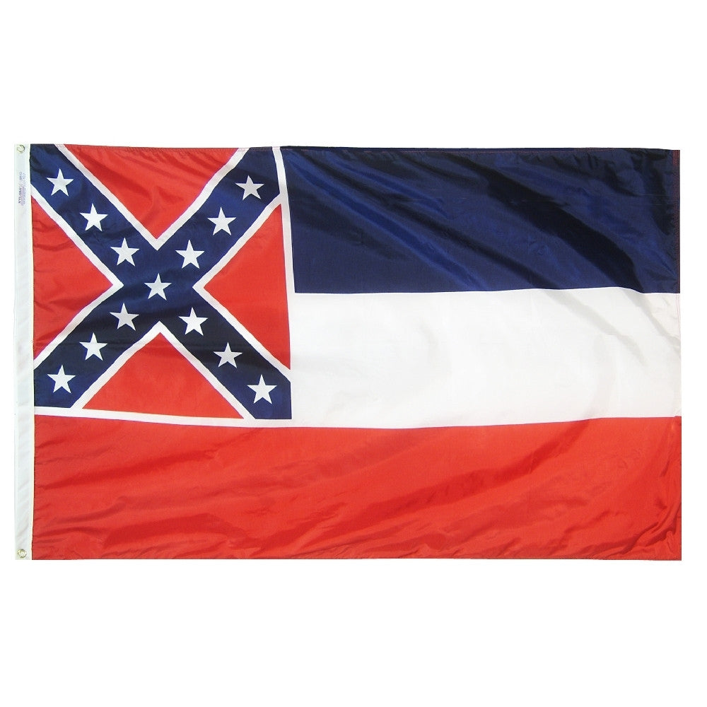 "Mississippi Courtesy Flag 12"" x 18"" - ColorFastFlags 