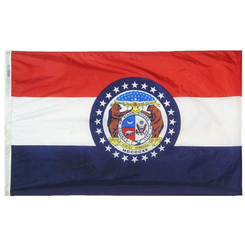 "Missouri Courtesy Flag 12"" x 18"" - ColorFastFlags 