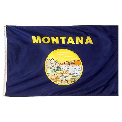 "Montana Courtesy Flag 12"" x 18"" - ColorFastFlags 