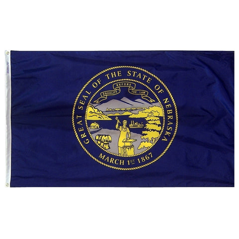 "Nebraska Courtesy Flag 12"" x 18"" - ColorFastFlags 