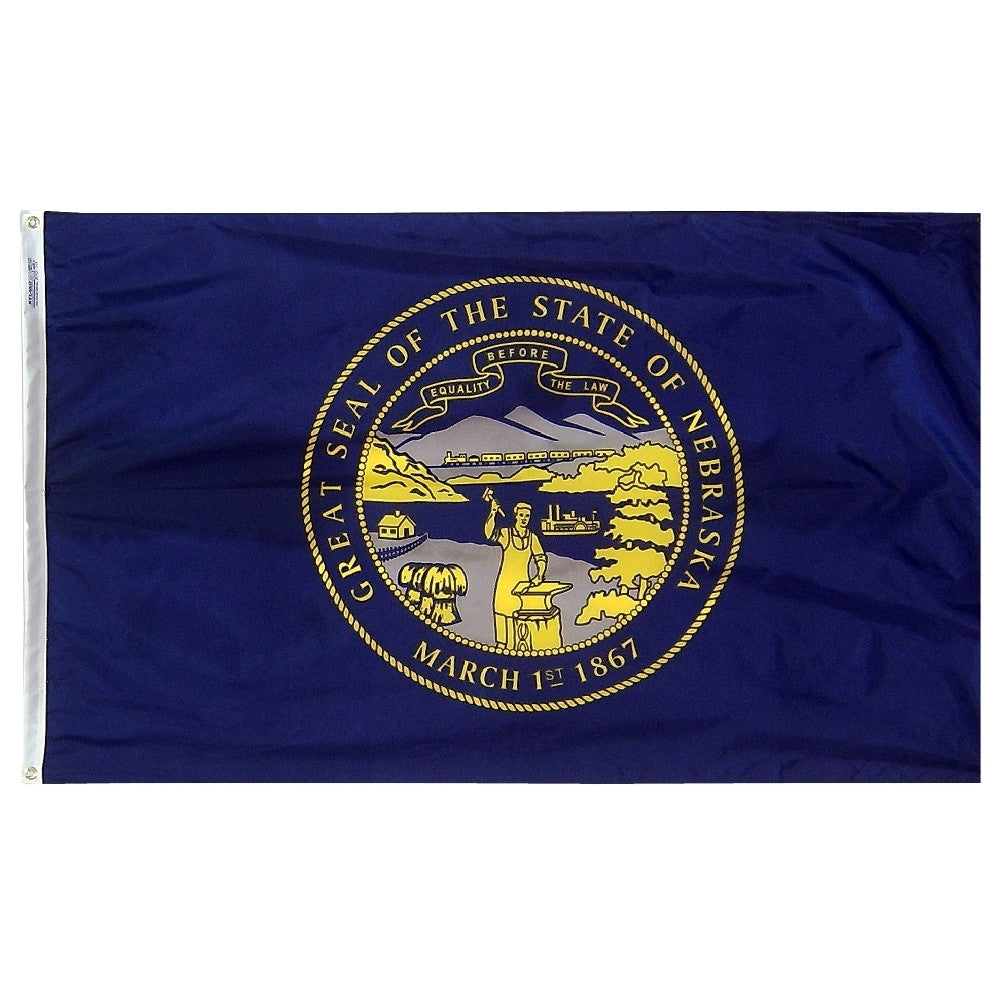 Nebraska State Flags - ColorFastFlags | All the flags you'll ever need!