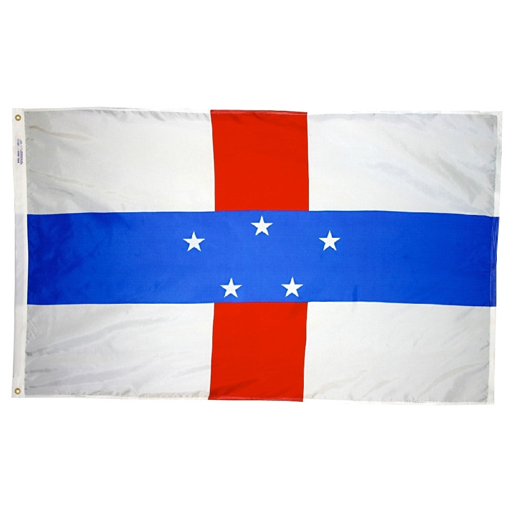"Netherlands Antilles Courtesy Flag 12"" x 18"" - ColorFastFlags 