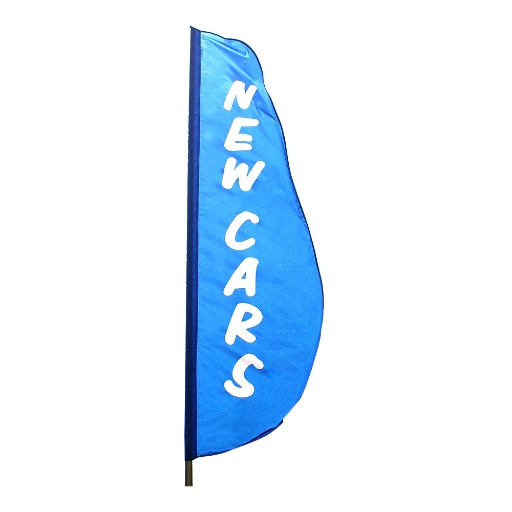 New Cars Feather Flag 2' x 8' - ColorFastFlags | All the flags you'll ever need!