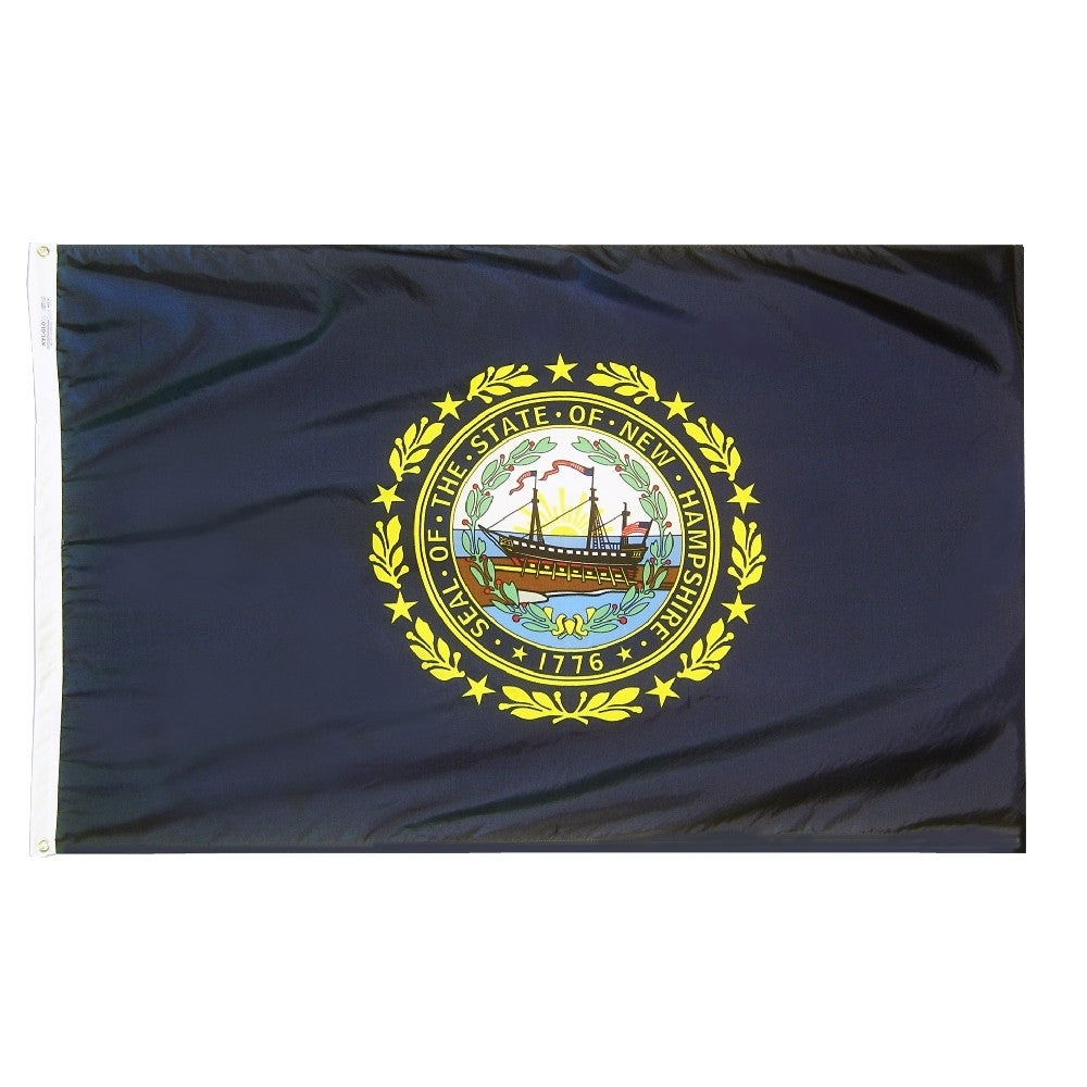 "New Hampshire Courtesy Flag 12"" x 18"" - ColorFastFlags 