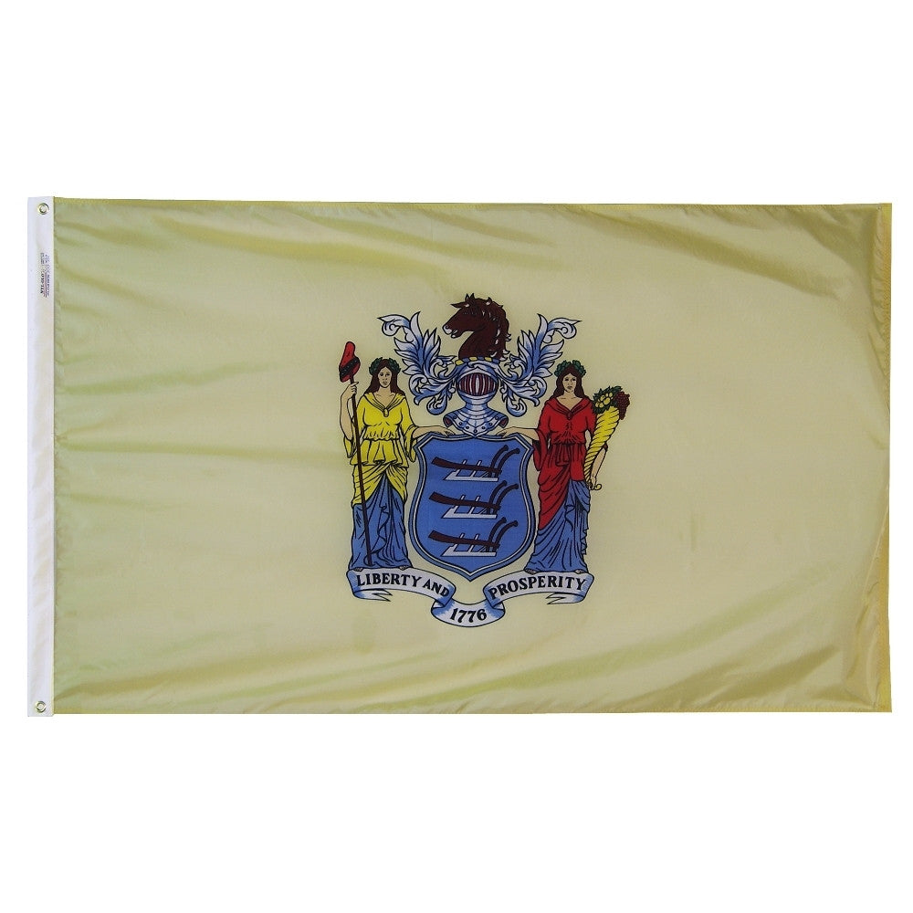 "New Jersey Courtesy Flag 12"" x 18"" - ColorFastFlags 