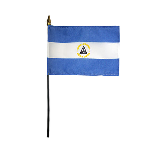 Miniature Nicaragua Flag - ColorFastFlags | All the flags you'll ever need!