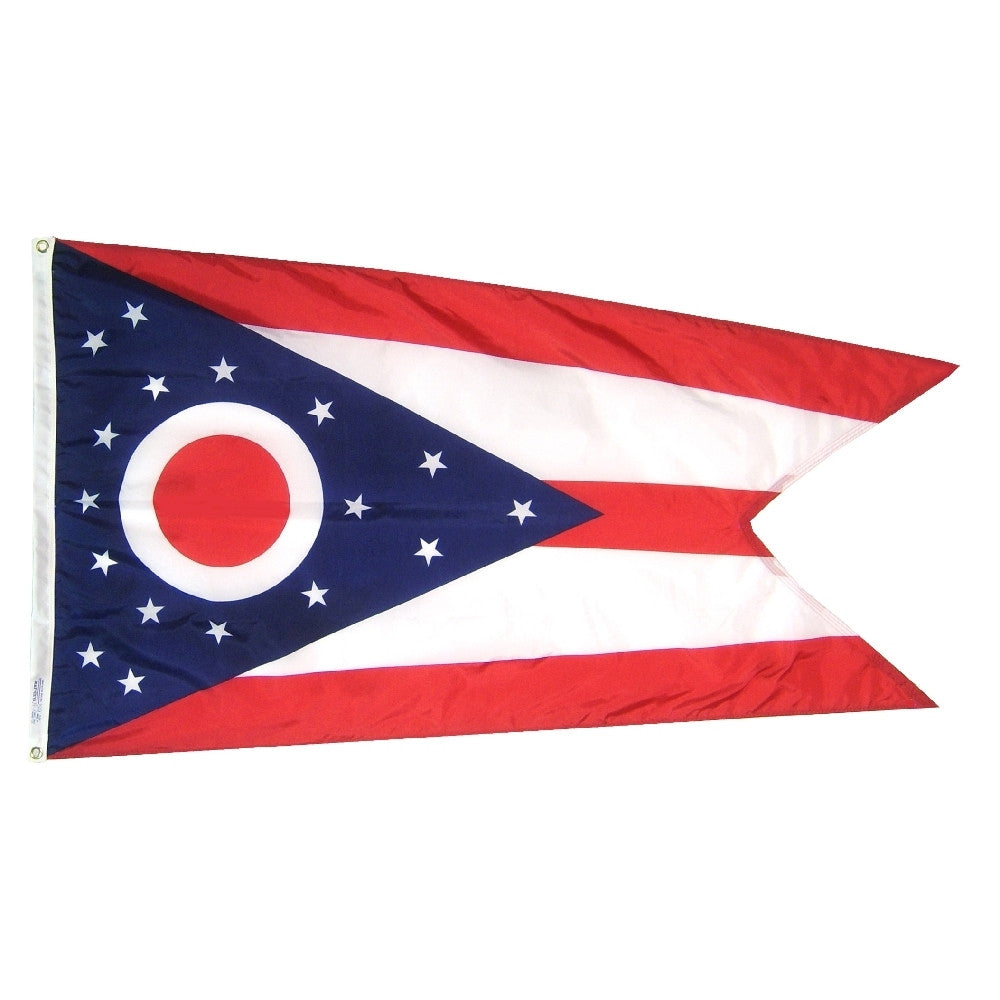 "Ohio Courtesy Flag 12"" x 18"" - ColorFastFlags 