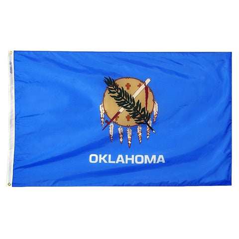"Oklahoma Courtesy Flag 12"" x 18"" - ColorFastFlags 