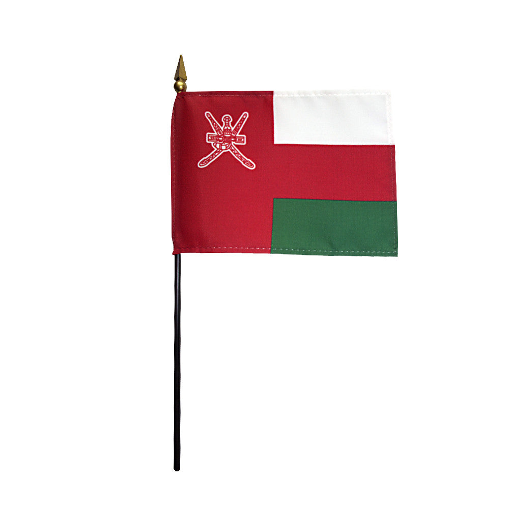 Miniature Oman Flag - ColorFastFlags | All the flags you'll ever need!