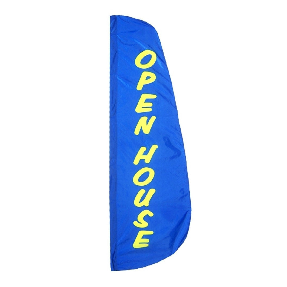 Open House Feather Flag 2' x 8' - ColorFastFlags | All the flags you'll ever need!