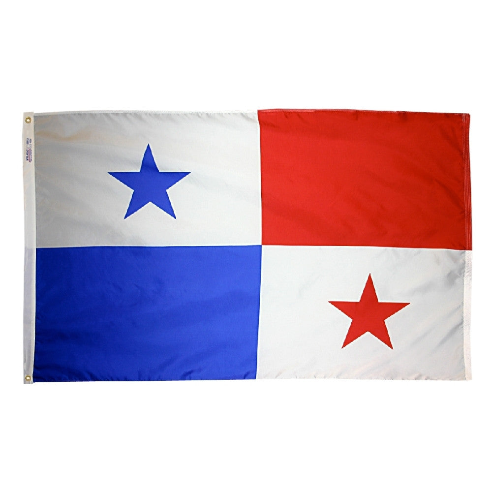 "Panama Courtesy Flag 12"" x 18"" - ColorFastFlags 