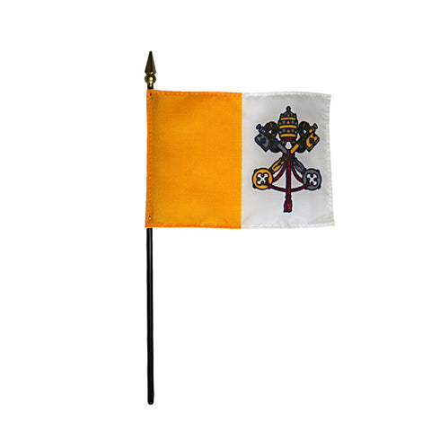 Miniature Papal Flag - ColorFastFlags | All the flags you'll ever need!