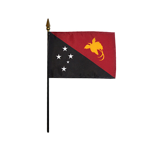 Miniature Papua-New Guinea Flag - ColorFastFlags | All the flags you'll ever need!
