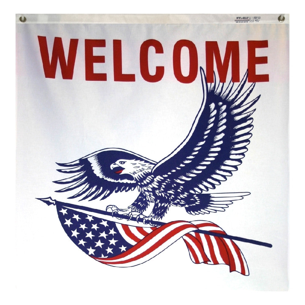 Patriotic Welcome Banner - ColorFastFlags | All the flags you'll ever need!