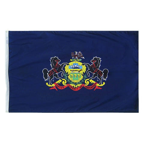 "Pennsylvania Courtesy Flag 12"" x 18"" - ColorFastFlags 