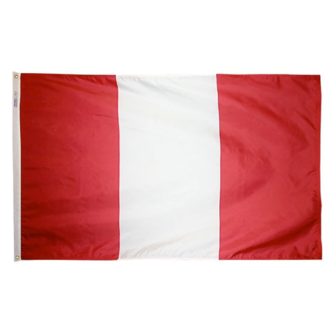 "Peru Courtesy Flag 12"" x 18"" - ColorFastFlags 