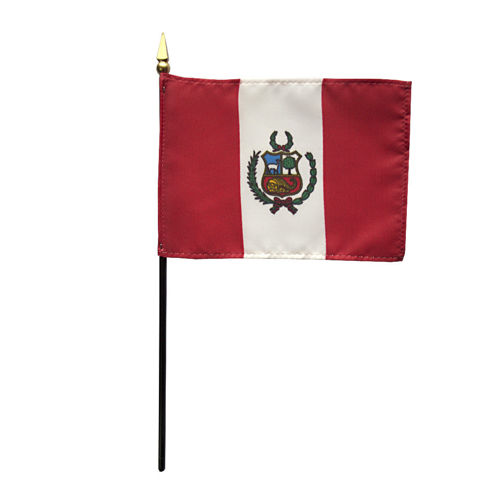 Miniature Peru Flag - ColorFastFlags | All the flags you'll ever need!