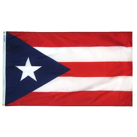 "Puerto Rico Courtesy Flag 12"" x 18"" - ColorFastFlags 