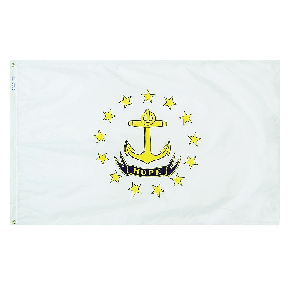 "Rhode Island Courtesy Flag 12"" x 18"" - ColorFastFlags 