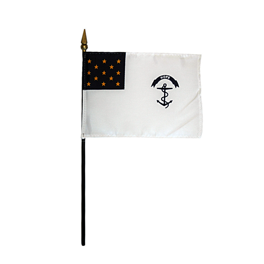 Miniature Rhode Island Regiment Flag - ColorFastFlags | All the flags you'll ever need!